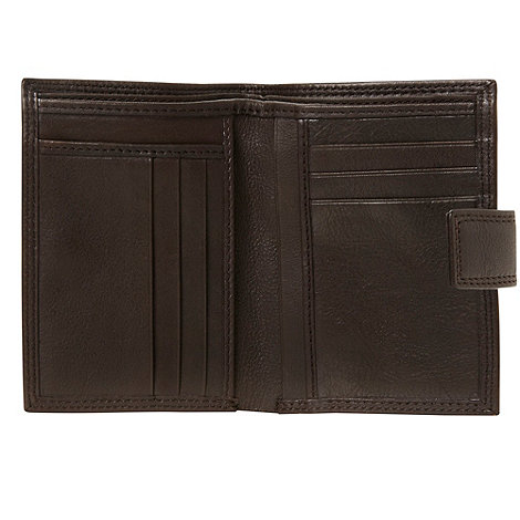 J by Jasper Conran - Designer brown vertical leather wallet