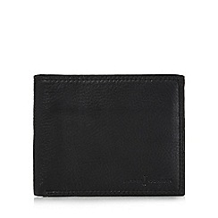 J by Jasper Conran - Designer black leather trifold wallet