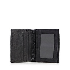 J by Jasper Conran - Black grain leather card holder in a gift box