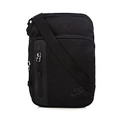 Nike - Black logo multiple pocket shoulder bag