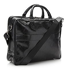 Jeff Banks - Designer black multi compartment business bag