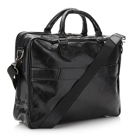 Jeff Banks - Designer black multi compartment business bag