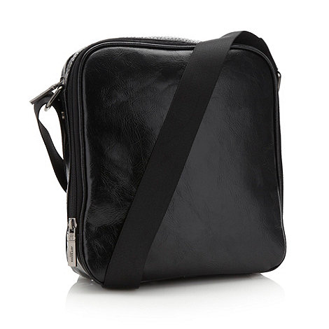 Jeff Banks - Designer black square shoulder bag