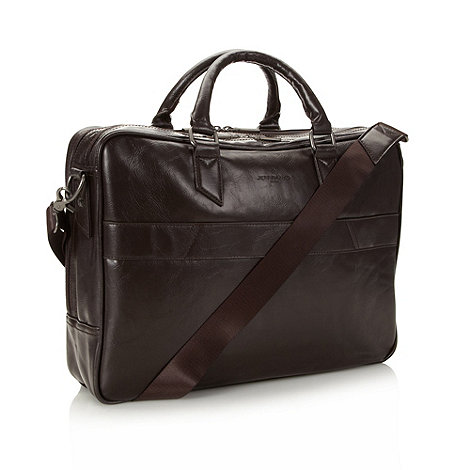 Jeff Banks - Designer brown laptop business bag