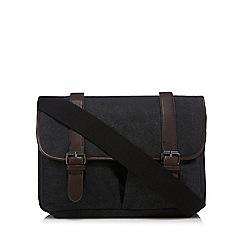Red Herring - Grey canvas satchel bag