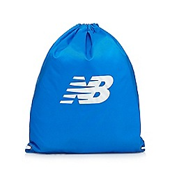New Balance - Blue logo detail cinched backpack