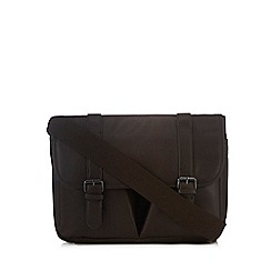 Red Herring - Brown two pocket satchel bag