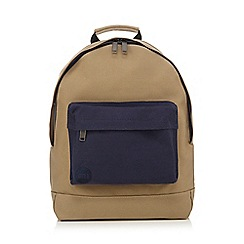 Mi-Pac - Camel zipped backpack