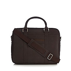The Eighth - Dark brown two handle briefcase