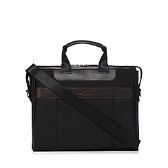 Jeff Banks - Black padded briefcase