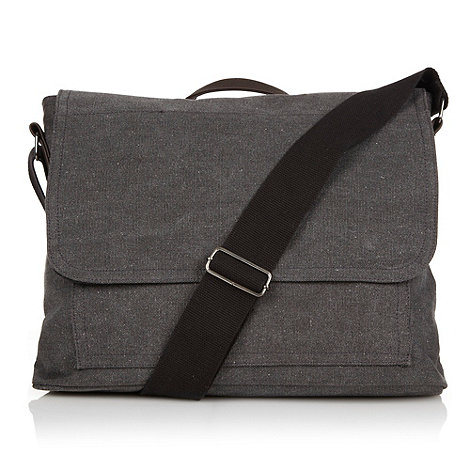 Mantaray - Grey canvas shoulder bag