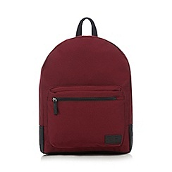 Red Herring - Red zip through backpack