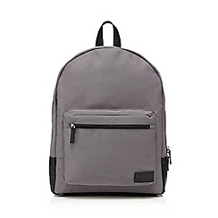 Red Herring - Grey zip through backpack