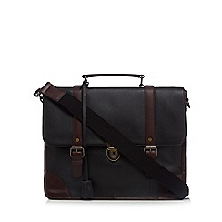 RJR.John Rocha - Black leather briefcase