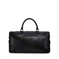 J by Jasper Conran - Black leather large holdall bag