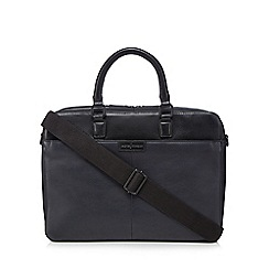 J by Jasper Conran - Navy leather two handle bag
