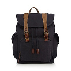 RJR.John Rocha - Blue washed canvas backpack