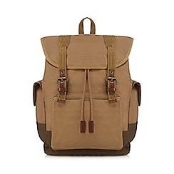 RJR.John Rocha - Natural washed canvas backpack