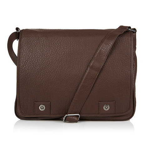 Red Herring - Brown mens dispatch bag