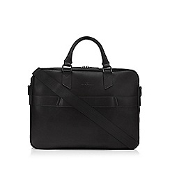 Jeff Banks - Black faux leather laptop bag
