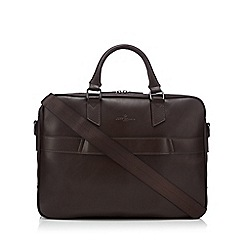 Jeff Banks - Brown faux leather laptop bag