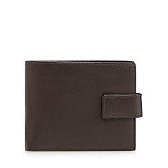 Thomas Nash - Black leather button tab wallet
