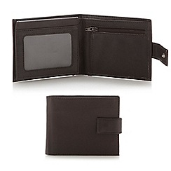 Thomas Nash - Dark brown leather tab wallet