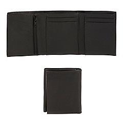 Thomas Nash - Black plain trifold wallet