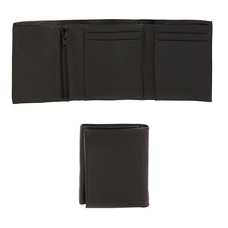 Thomas Nash - Black plain trifold wallet