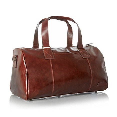 RJR.John Rocha - Designer brown grain leather holdall