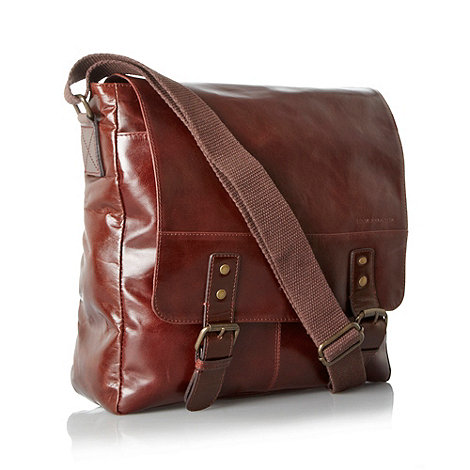 RJR.John Rocha - Designer brown square leather shoulder bag