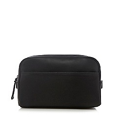 J by Jasper Conran - Black faux-leather wash bag