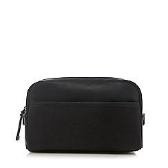 J by Jasper Conran - Black faux-leather wash bag