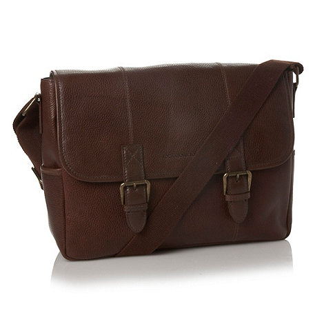RJR.John Rocha - Designer dark brown grained leather satchel bag