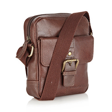 RJR.John Rocha - Designer brown small grain leather shoulder bag