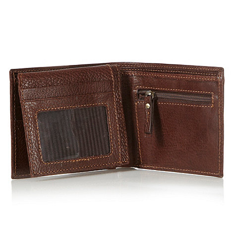 RJR.John Rocha - Designer dark brown grained leather wallet