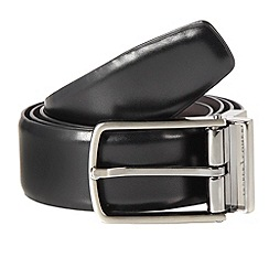 J by Jasper Conran - Designer black leather reversible buckle belt