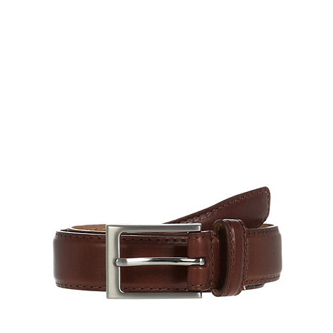 J by Jasper Conran - Designer tan luxury slim leather belt