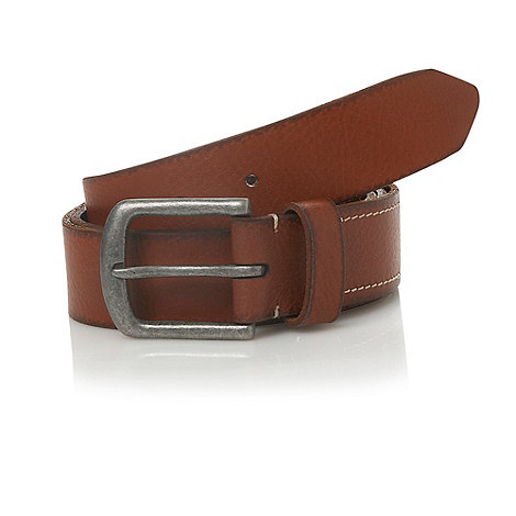 J by Jasper Conran - Tan horseshoe pin buckled leather belt