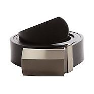 Thomas Nash - Black reversible colour blocked buckle belt