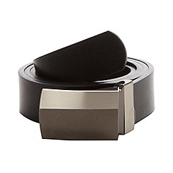 Thomas Nash - Black reversible colour blocked buckle belt