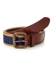 Navy canvas belt
