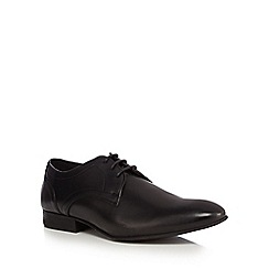Red Herring - Black leather 'Ronnie' derby shoes