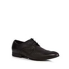 Red Herring - Black leather 'Ziggy' brogues