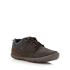 Caterpillar - Brown leather worker shoes