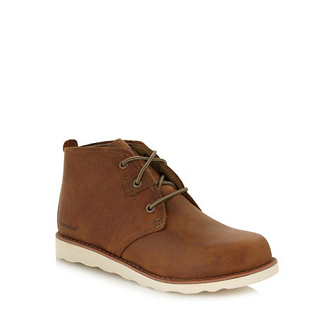 Caterpillar - Tan suede leather ankle boots