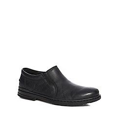 Hush Puppies - Black leather 'Milton Hanston' slip on shoes