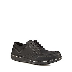 Hush Puppies - Black leather 'Volley Victory' lace-up shoes