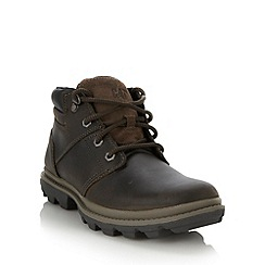 Caterpillar - Dark brown leather lace up boots