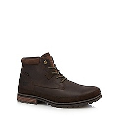 Caterpillar - Dark brown lace up boots